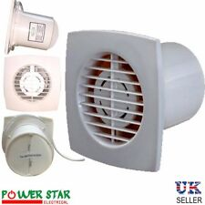 Slimline 100mm 4'' Ventilation Extractor PVC Kitchen Bathroom  Wall Ceiling Fan
