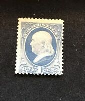US Stamps Scott #206 Inused Some Flaws - small thin spot