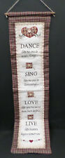 shabby chic country vintage decor verse dance wall hanger sign