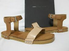Marc By Marc Jacobs Size 7 M Nailed It Nude Tan Leather Sandals New Womens Shoes