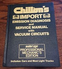 Chiltons Import 1970-1983 Service Manual Emissions Diagnosis 7281