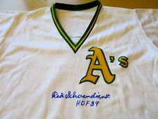 RED SCHOENDIENST 1978 Worn/Signed A's Spring TrainingCoach Jersey-Lelands Letter