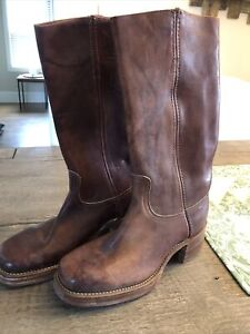 Frye Vintage New Old Stock Women's Western Boots Burnt Cherry Color Size 8 B