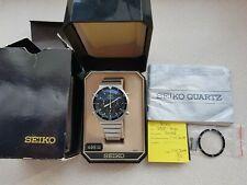 Seiko 7a28 -7040 Speedmaster 1983, serviced oryginal box manual, vintage, chrono