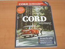 """CORD NO. 1 """"Das Männer-Magazin fürs Wesentliche"""" ungelesen Neuwertig!"""
