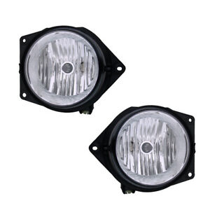 Fog Lights Bumper Lamps Pair Set for 06-10 Hummer H3 (2nd Design) Left & Right