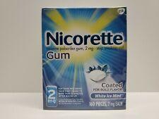 "NICORETTE GUM ""White Ice Mint""  160ct. 2mg"