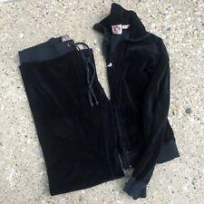 Juicy Couture Velour Track Suit Black Jacket & Pants
