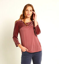 White Stuff Velvet Callie Jersey Tee In Pearl Pink Plain Size 8 NEW WITH TAGS
