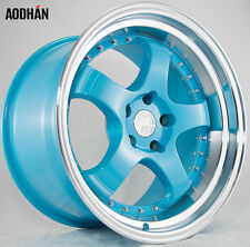 AODHAN AH03 18x10.5 5x114.3 +25 Blue (PAIR) fitments to work on most cars!