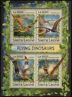 SIERRA  LEONE 2016 FLYING DINOSAURS  SHEET  MINT NH