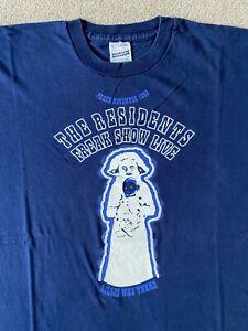 THE RESIDENTS . Freak Show 1995 Praha  ORIGINAL Shirt Metal Vintage Punk Melvins