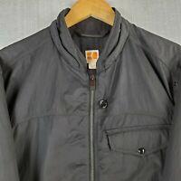 BOSS ORANGE Brazil Size 44 Large Mens Black Full Zip Bomber Jacket Coat Hugo