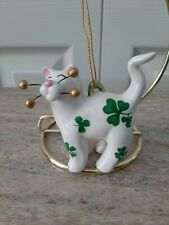 New in Box - Cosmos Cat Whiskers Shamrock Ornament