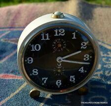 Classic Vintage French JAZ Mechanical Alarm Clock  Working