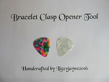 CHARM BRACELET CLASP OPENER NAIL SAVER TIE DYE WHITE X 2 SNAKE CHARM