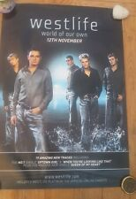 WESTLIFE 'World' Unused Shop Display POSTER 27x19 inches