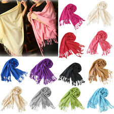 2017 Women's Long Cashmere Scarf Wrap Large Winter Shawl Solid Scarves Pashmina