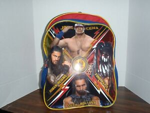 WWE Wrestling John Cena Finn Balor, Roman Reigns, Seth Rollins Backpack NEW TAGS
