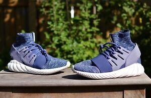 Adidas Tubular Doom Primeknit Super Purple BB2393 Men's Size 11.5 Sneakers Shoes