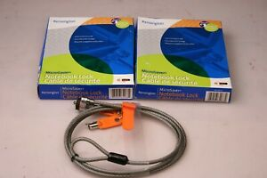 Lot of 3 Kensington Notebook Computer Microsaver Security Cable with Lock EL497