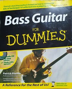 Learn Bass Guitar For Dummies by Patrick Pfeiffer (Paperback & CD) Bass Lessons