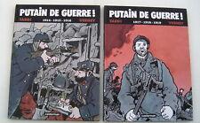 PUTAIN DE GUERRE . INTEGRALE 1 et 2 avec DVD . TARDI , VERNEY . BD EO