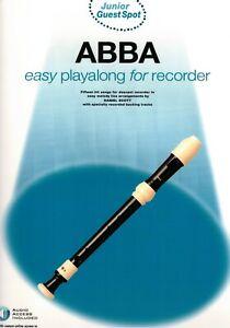 Blockflöte Noten : ABBA easy playalong  for recorder (Junior Guest Spot)
