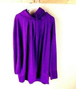 Women's Violet Danskin Now Polyester Long Sleeve Hoodie Sweatshirt Size 3X