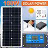 100W Solarpanel-Bausatz 12V Batterie-Ladegerät 10-50A Regler RV Boot Wohnwagen