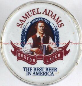 1990s SAMUEL ADAMS BOSTON LAGER 3¾ inch porcelain coaster Tavern Trove
