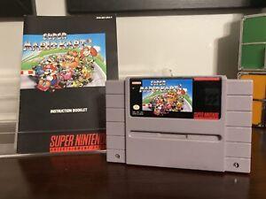 SNES Super Mario Kart - Game + Manual