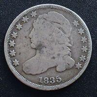 USA 1835 Dime Capped Bust 10 Cent Philadelphia Silber Selten 2053