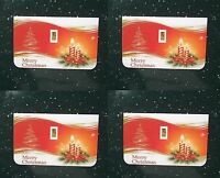4 Merry Christmas 1/15 Gram PURE 999 GOLD 24K BULLION MINTED BAR FREE FAST SHIP.