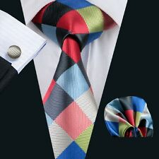 SN-1064 Mens Silk Wedding Party Jacquard Woven Tie+Hanky+Cufflinks Sets Free P&P