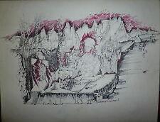 Yves Milet encre sur papier signée datée 1969 art abstraction surréaliste Breton