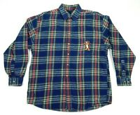Disney Catalog Mens Tigger Embroidered Heavy Flannel Shirt Size Large 52 54