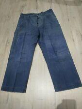 ancien pantalon de travail homme bleu / B 319