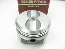 """.030/"""" Chevy 350 Small Block Flat Top 4 Relief Pistons+Rings Combo Kit 1967-90"""