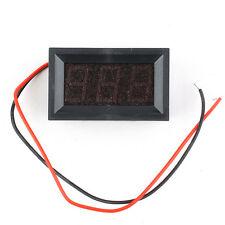 2 Wire Red DC 2.5-30V LED Panel Digital Display Voltage Meter Voltmeter