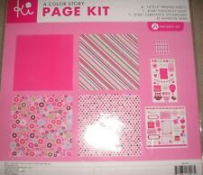 Color Story Pink Love Family Friends Fun Celebrate Ki Scrapbook Page Kit 12 x 12