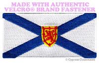 NOVA SCOTIA FLAG PATCH CANADA EMBROIDERED CANADIAN w/ VELCRO® Brand Fastener