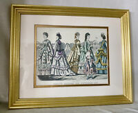 Antique Godey's Fashions For September 1870 Framed Victorian Art Kimmel Forster