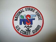 b2646 National Strike Force NSF US Coast Guard Patch 1980's -90's IR25C