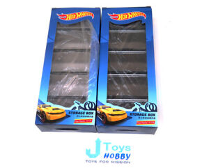 1:64 NEW Acrylic Storage Display Box Lot of 2 sets Hot Wheels Matchbox Tomica