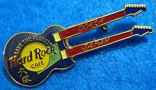 OSAKA JAPAN BLUE DOUBLE NECK MINI VERSION GUITAR Hard Rock Cafe PIN