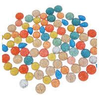 15-30pcs//Lot Colorful Bohemian Psychedelic Mandala Glass Cabochon Flatback Craft