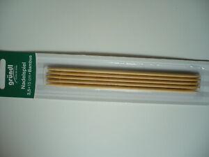 Gründl Nadelspiel 15cm Strumpfstricknadeln Bambus Stärken 2,5 bis 3,5 für Socken