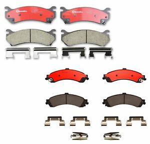 Brembo Front & Rear Brake Pad Set Kit For Chevrolet Avalanche 1500 GMC Yukon 4WD
