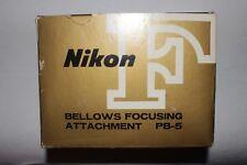 Nikon PB-5 Bellows Focusing Attachment w/ Box & Manual